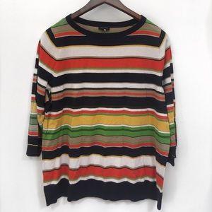 Talbits 2x orange striped sweater